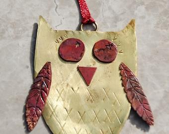 Handmade Metal Owl Decoration