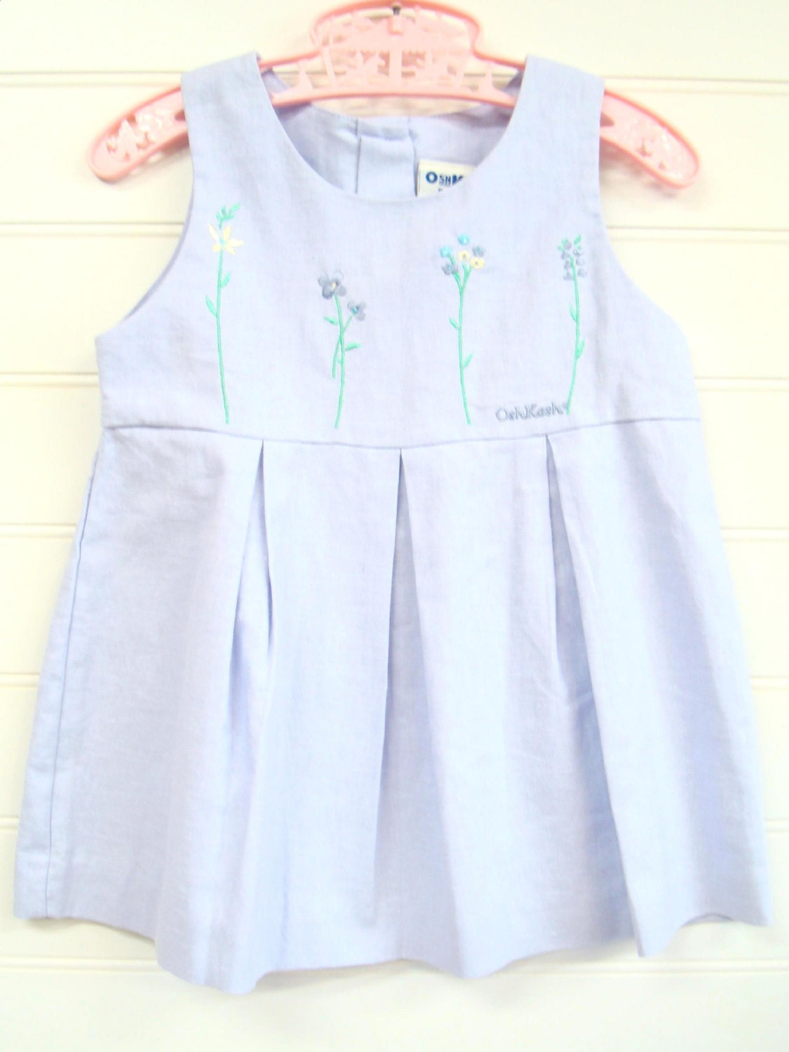 vintage baby clothes baby dress lavender by