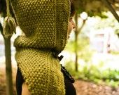 Sage Woodland Hood PDF Knitting Pattern / Scarf Hood Pattern