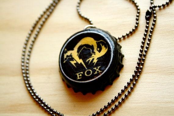 Metal Gear Solid FOX Bottlecap Necklace