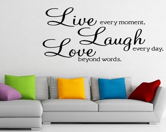Live Laugh Love Vinyl Wall Sticker Decal Wallpaper Wall Art Home Decor (77)