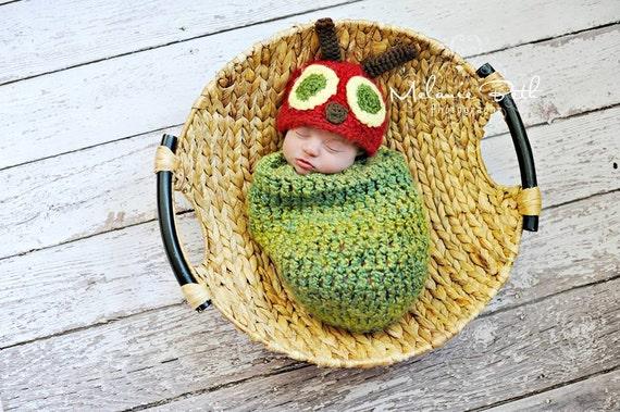 Baby Boy Hat Caterpillar Newborn Baby Boy Crochet