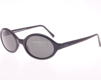 Vintage 80s NOS Emporio Armani oval celluloid sunglasses, in three color variations and 2 sizes.