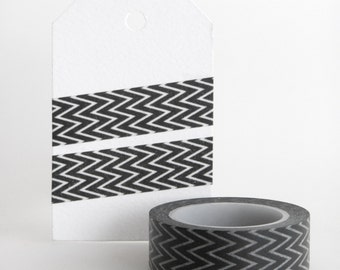 WASHI TAPE, chevron lines in black and white