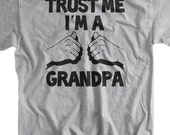 I'm A Grandpa Father's Day Christmas Gift New Baby Birthday Gifts for Dad Grandparent Screen Printed T-Shirt Mens  Funny Geek