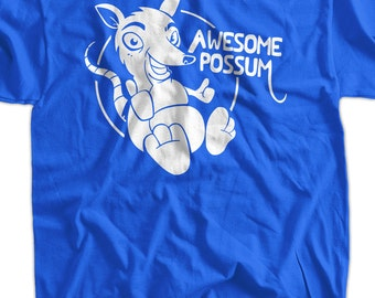 Funny T-Shirt Gifts For Guys Awesome Possum T-Shirt Gifts for Dad Screen Printed T-Shirt Tee Shirt T Shirt Mens Ladies Womens
