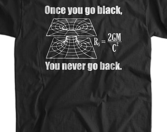 Black Hole Science T-Shirt Table Chemistry Geek Nerd School Science Tshirt T-Shirt Tee Shirt Mens Womens Ladies Youth Kids Geek Funny
