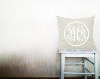 Monogram pillow decorative throw pillows cover monogrammed pillow pillow throw pillow monogrammed pillow cover 18x18 inches pillow