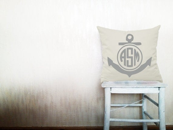 Monogram Pillow Decorative Throw Pillows Cover By