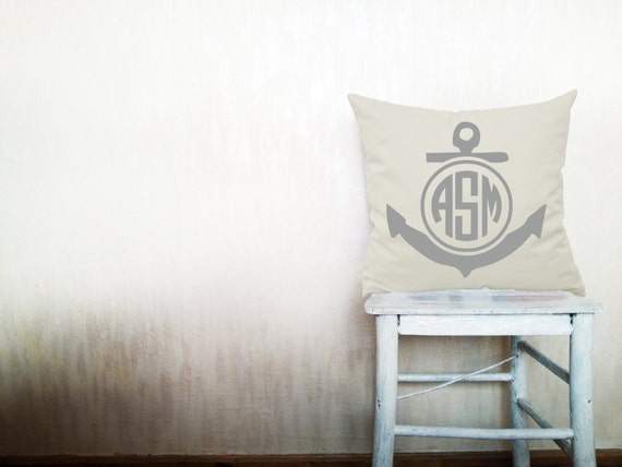 Monogram pillow decorative throw pillows cover by HomeLivingIdeas