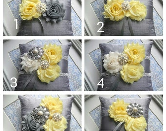 Modern - Shabby Embellished Ring Pillow, Available In Six Styles,  Weddings, Ring Bearer Pillow, Bride