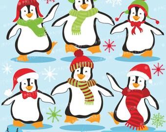 80% 0FF SALE Penguins clipart commercial use, vector graphics, digital clip art, digital images  - CL586