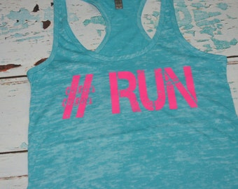 Runner tank. Run 13.1. Half Marathon. Tank Top. Burnout. Soft. Racerback. Women. Size Small - 2XLarge