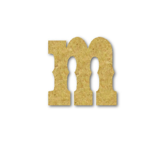 Small wooden letters m unfinished unpainted decorative by for Small wooden letters for crafts