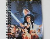 "Agenda / planner / notebook - Star Wars Episide VI: Return of the Jedi - Upcycled 7.25x4"" VHS tape"