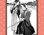 Folkwear Japanese Hakama & Kataginu Samurai Costume Sewing Pattern # 151