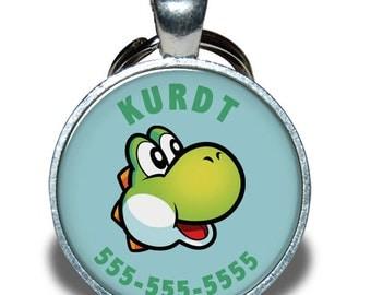 Pet ID Tag - Yoshi Nintendo *Inspired*