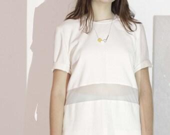 S A L E! White short-sleeved blouse