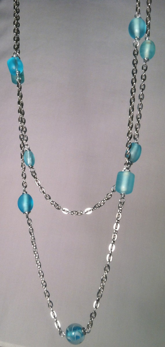 items similar to handmade jewelry skyblue glass on etsy