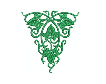 Machine Embroidery Design Instant Download - Ivy Triangle 1