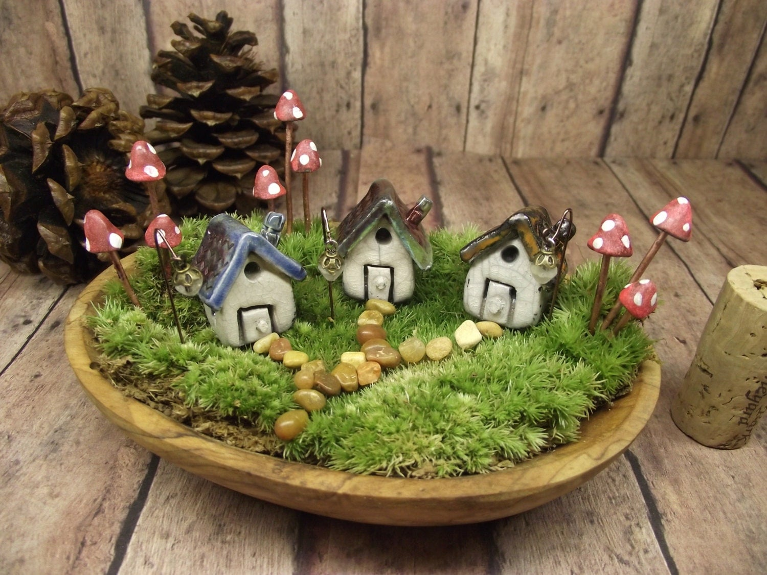 Miniature House Set Of 3 Houses 9 Glow In The Dark