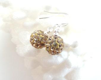 SALE! Swarovski Crystal Disco Ball Earrings, Swarovski Earrings, Disco Balls, Feido Ball Earrings, Dangle Earrings, Gift Idea. A232