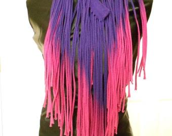 Purple-Pink Ombre Fringe T-Shirt Scafr