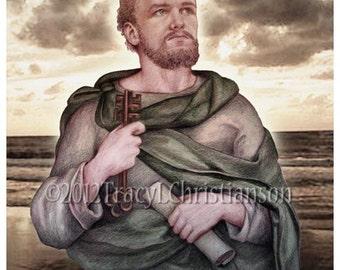 St. Peter Art Print, Catholic Patron Saint of Fishermen #4154