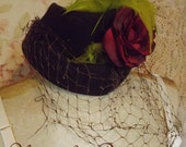Frannies Steppin Out Bohemian Festival Hat Gypsy Chic For Upcycled Rose