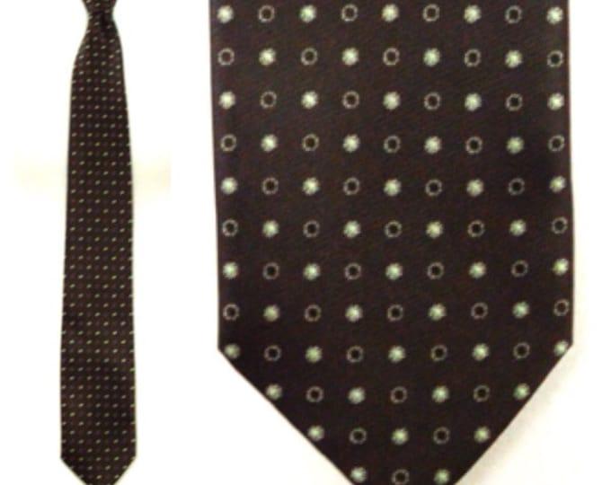 Vintage 90s Tie Shop Roma Elegant Dandy Silk Neck Tie