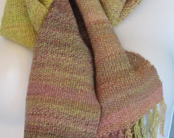 Heathers I - Hand woven merino wool and Tencel scarf