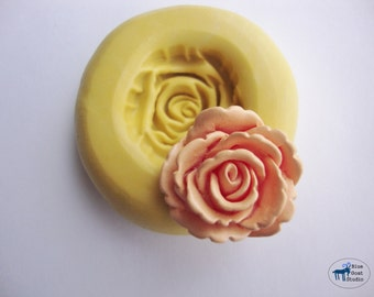 Rose Mold/Mould -  Silicone Mold - Flower - Polymer Clay Resin Fondant