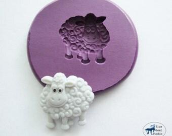 Sheep Mold - Farm Animal Mold - Silicone Mold - Polymer Clay Resin Fondant