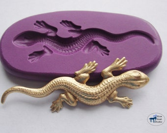 Lizard Gecko Salamander Mold/Mould - Silicone Molds - Polymer Clay Resin Fondant Cake Decorating Mold