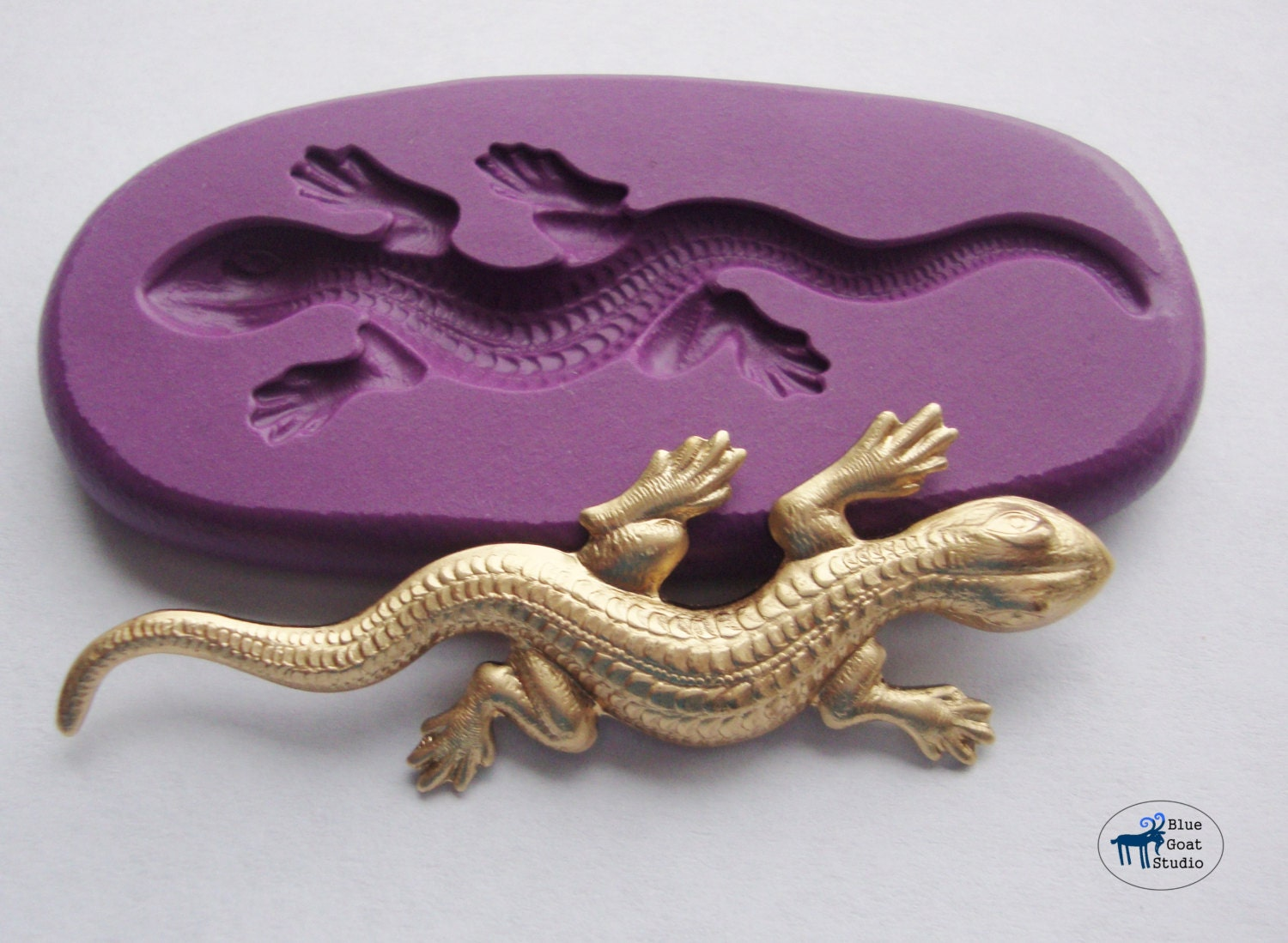 lizard gecko salamander mold mould silicone molds polymer