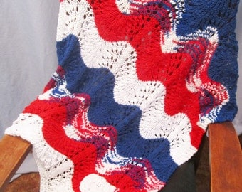 Afghan Red, White, Blue