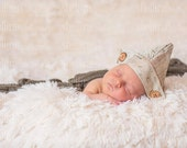 Vintage Inspired Scripting Hat - newborn photography, photography prop, nautical props