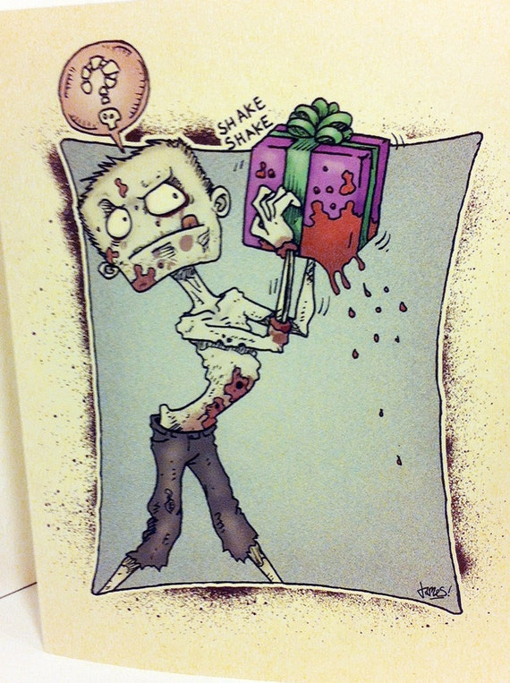 Zombie birthday card from ronkytonk what s in the by
