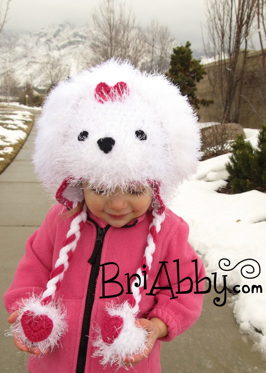 Cute Maltese Puppy Names Female Crochet maltese puppy dog hat Y Dog Names