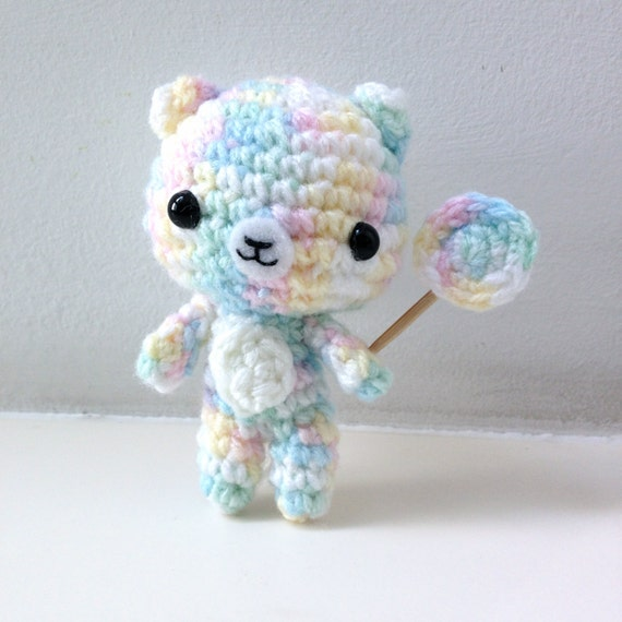 Amigurumi Baby Shower Bears : Items similar to Crochet Bear Keychain Amigurumi Kids Toy ...