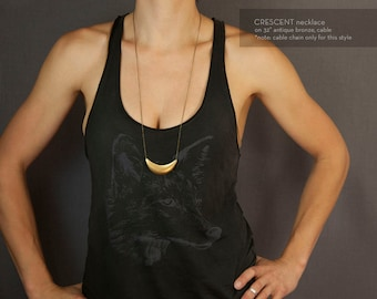 CRESCENT Necklace // Simple Raw Brass Necklace // Tribal Necklace // Boho Necklace // Choose your length