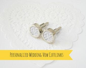 Wedding Gift For Future Husband : wedding vow cuff links, Gift for groom from bride, future husband gift ...