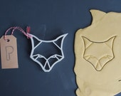 Origami fox cookie cutter...