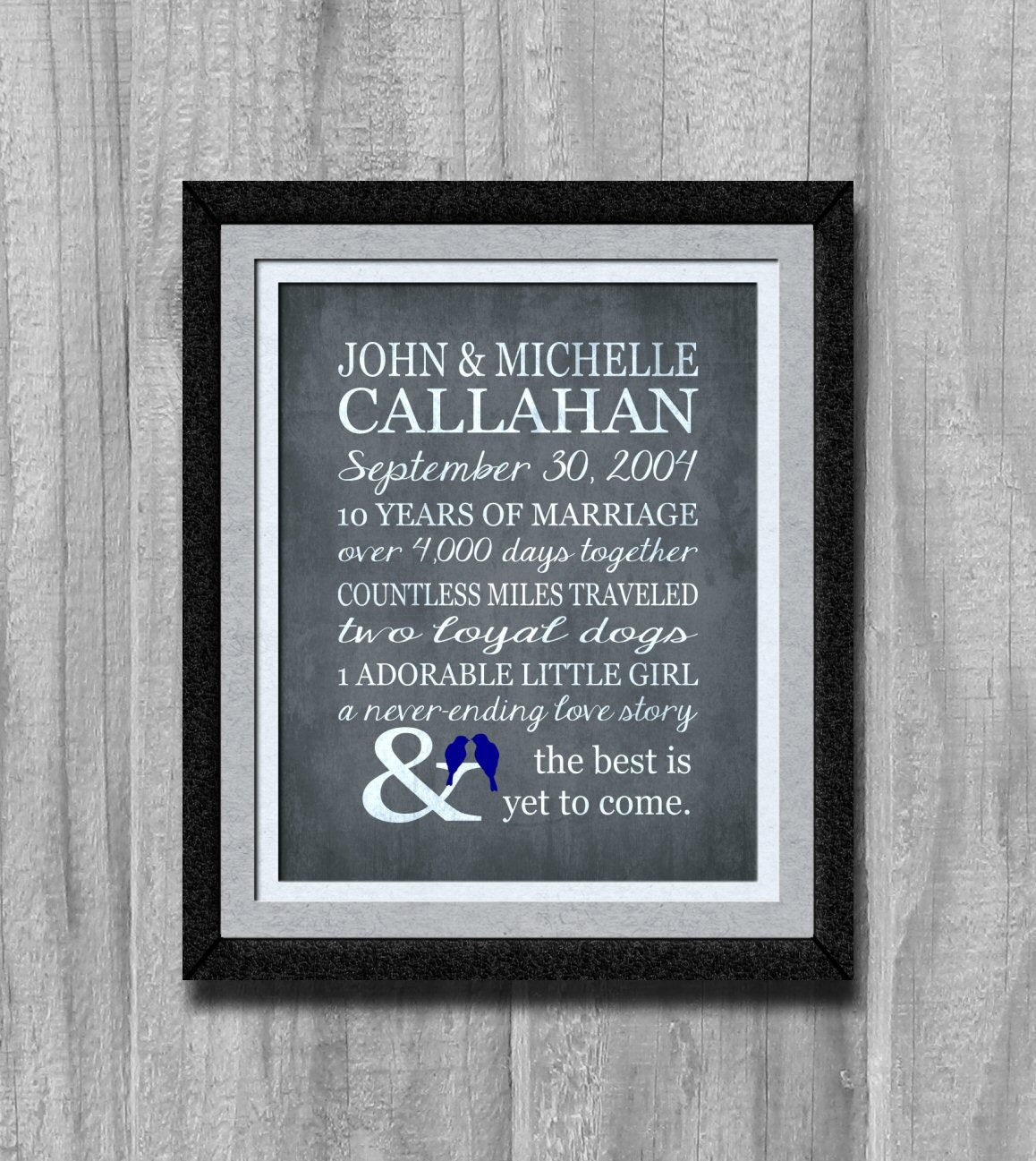 Personal Gifts For Your Husband: Personalized Anniversary Gift Our Love Story Gift For Husband