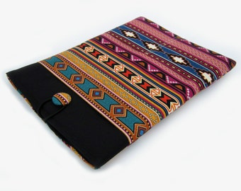 Macbook Pro Sleeve, Macbook Pro Case, 15 inch Macbook Pro Cover, 15 inch Macbook Pro Case, Laptop Sleeve, Tribal Stripes