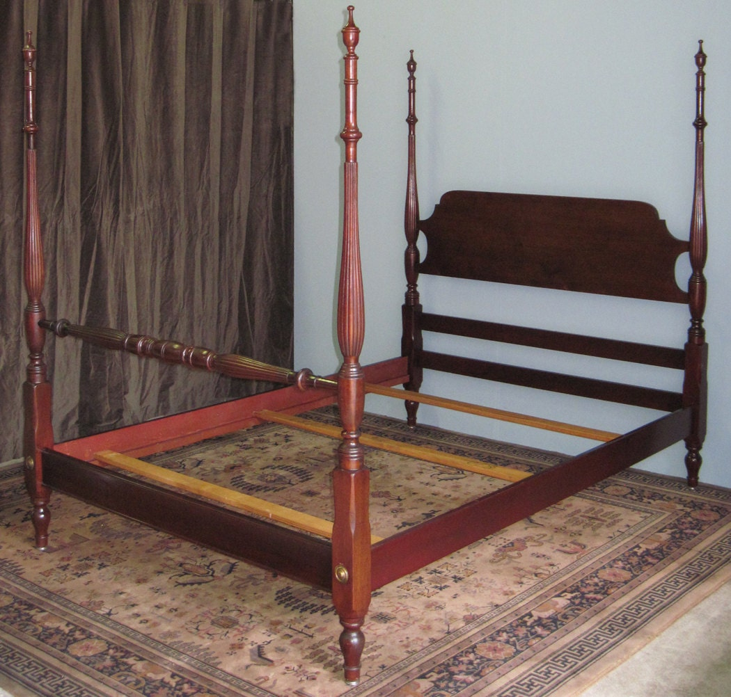 vintage mahogany four poster full size bed