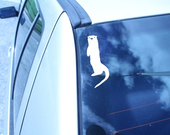 Sea Otter Vinyl Sticker / Sea Otter Vinyl Decal / Sea Otter Bumper Sticker