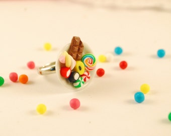 candy plate ring - food jewelry