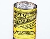 Vintage Dental Scotch Snuff Poster - Vintage Snuff Poster Sign, Hanging Man Cave Art, Paper Memorabilia Signage