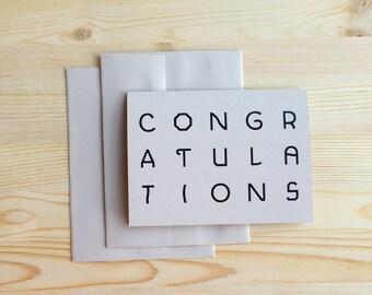 Congratulations Card Set of 2